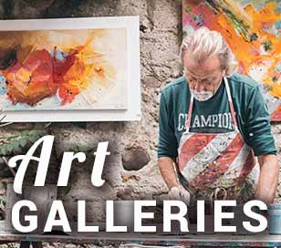 This area is alive with art exhibitions from town art festivals to art galleries